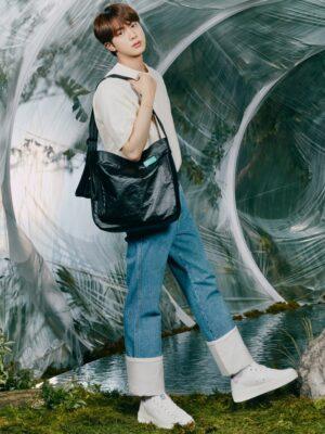 Folded Hem Blue Denim Jeans | Jin – BTS