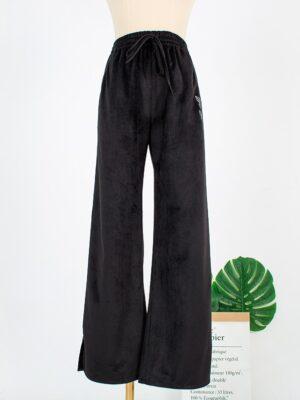 Joo Seok Kyung – Penthouse Black Velvet Pants (6)