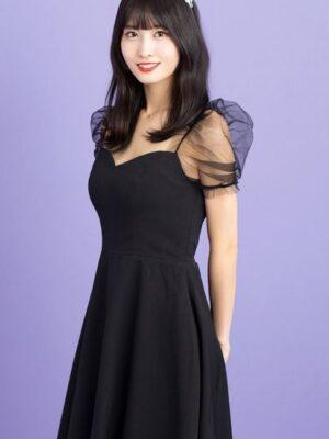 Black Mini Dress With Mesh Sleeves | Momo – Twice