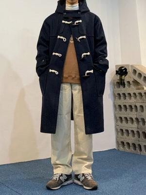 Navy Blue Hooded Long Coat BamBam – GOT7 03