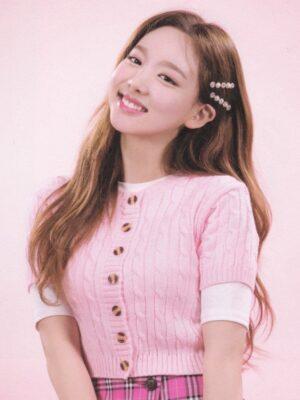 Pink Twist Knitted Short Sleeve Cardigan   Nayeon – Twice