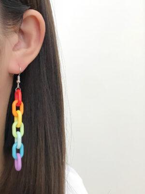 Rainbow Chain Earrings Giselle – Aespa 5