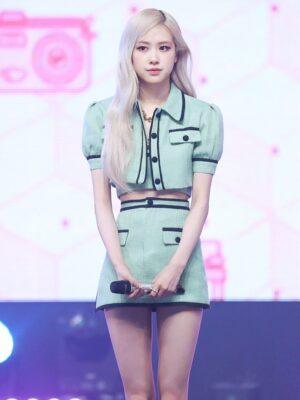 Green A-Line Mini Skirt | Rose – BlackPink