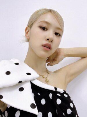 One-Shoulder Bow Polka Dot Dress | Rose – BlackPink