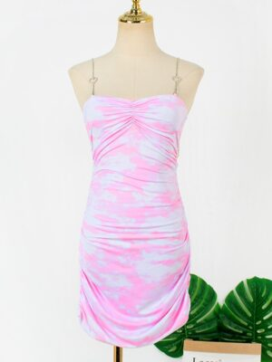 Rose – BlackPink Pink Tie-Dye Bodycon Dress (2)