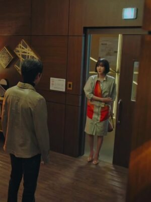 Contrast Belted Shirt Dress   Shim Su Ryeon – Penthouse