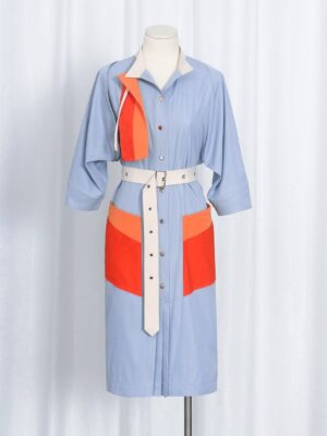 Shim Su Ryeon – Penthouse Contrast Belted Shirt Dress (6)