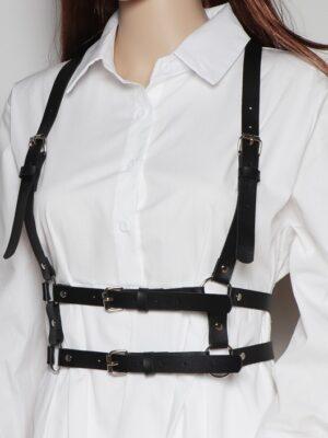 Suga – BTS Black Double Strap Harness Belt (5)