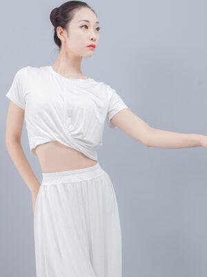 White Twisted Crop Top Yoona – Girls Generation 4