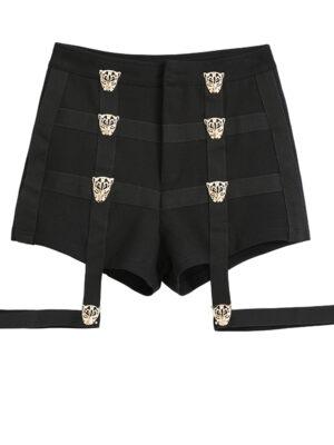 Black Leopard Shorts With Strap Lisa – BlackPink 4
