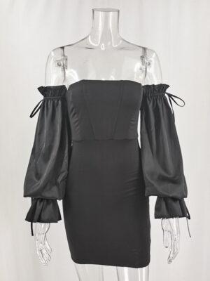 Black Off Shoulder Corset Dress Solar – Mamamoo 3