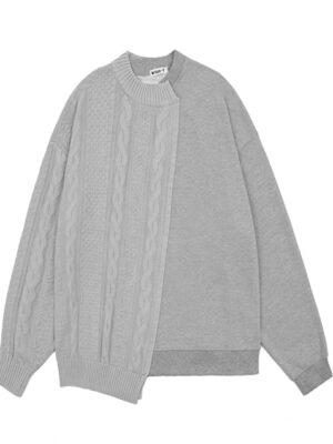Grey Assymetric Sweater Jeonghan – Seventeen 2