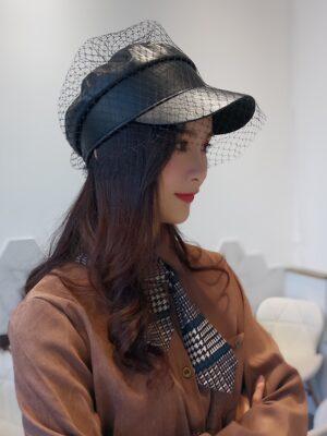 IU – Hotel Del Luna Black Leather Veil Cap (1)