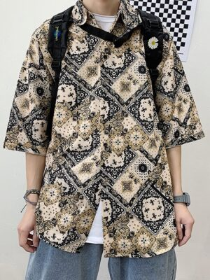 Jungkook – BTS Oversized Bandana Shirt (2)