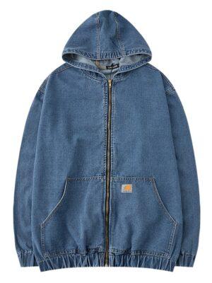 Jungkook – BTS Product Corrections Blue Denim Hooded Jacket (7)