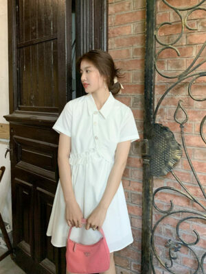 White Irregular Collared Dress Jisoo – BlackPink 8