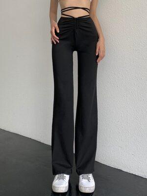 Jennie – BlackPink Black Tie Waist Pants (7)