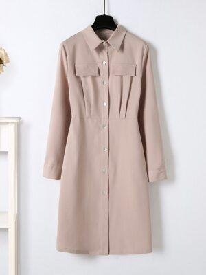Joo Seok Kyung – Penthouse Beige Shirt Dress (10)