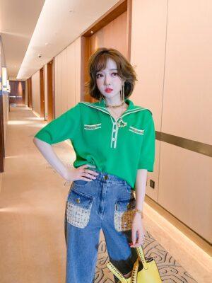 Ha Eun Byul – Penthouse Green Sailor Top (11)